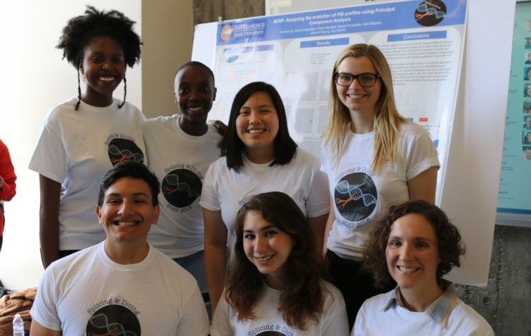 "The ""splicing team"" did computational research on alternative splicing during the 2018 summer program."