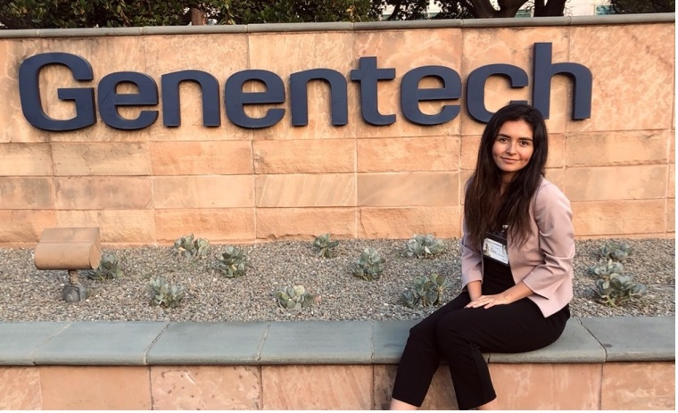 Hailey during the 2019 Genentech's Campus Engagement Day, which was her first introduction to Genentech.